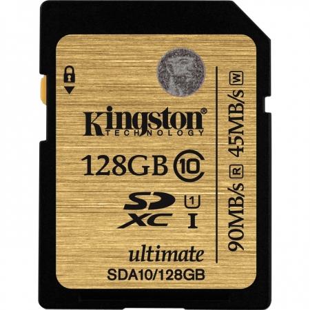 Kingston SDHC Ultimate 128GB  Class 10 UHS-I 90MB/s read 45MB/s write Flash Card BULK125025220-1