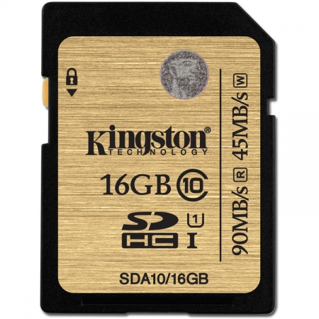 Kingston SDHC Ultimate 16GB  Class 10 UHS-I 90MB/s read 45MB/s write Flash Card BULK125025938-1