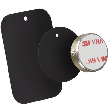 Kit HOLMAGGD - Suport auto telefon magnetic, prindere de bord, Auriu
