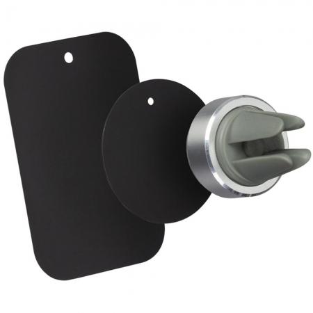 Kit HOLVENTMSL - Suport auto telefon magnetic, prindere de orificiul de aerisire, Argintiu