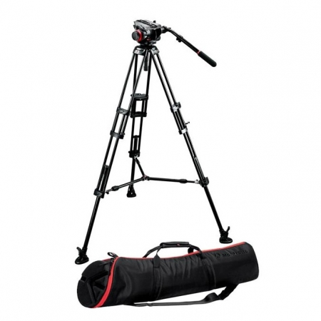 Kit Manfrotto 546BK picioare + 504HD cap