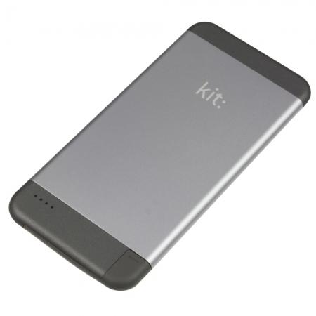 Kit PWRIP6 - Incarcator portabil cu mufa Apple Lightning MFI 4100mAh - gri