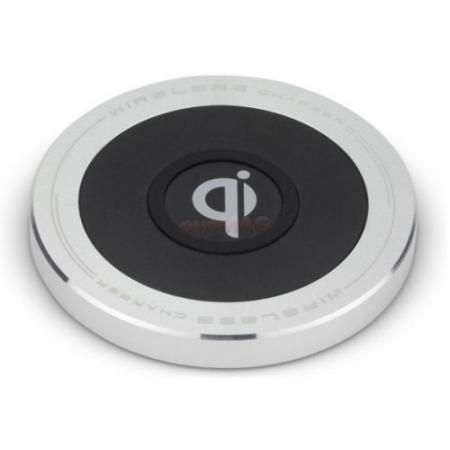 Kit QIPAD - Placa de incarcare wireless premium, 1000 mAh, Negru / Argintiu RS125023750