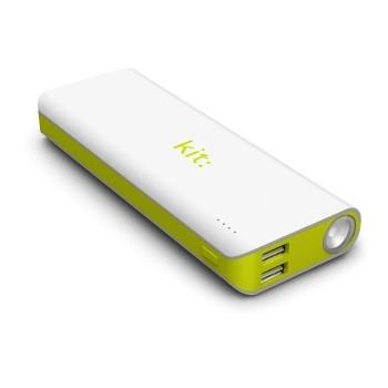 Kit Vision - Acumulator extern 12.000 mAh cu Lanterna si Indicator nivel baterie Alb