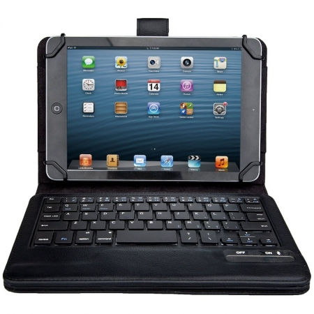 Kit Vision KBCSUNISNK - Husa universala cu tastatura Bluetooth 7-8 inch - negru