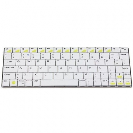 Kit Vision Mini - tastatura bluetooth universala, aluminiu, Alb
