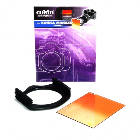 Kit filtre Cokin H520 58mm -Holder P+ inel P458 + Filtru P197 Sunset