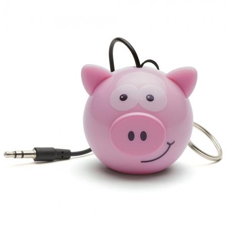 KitSound Mini Buddy Pig Speaker - boxa portabila cu jack 3.5mm