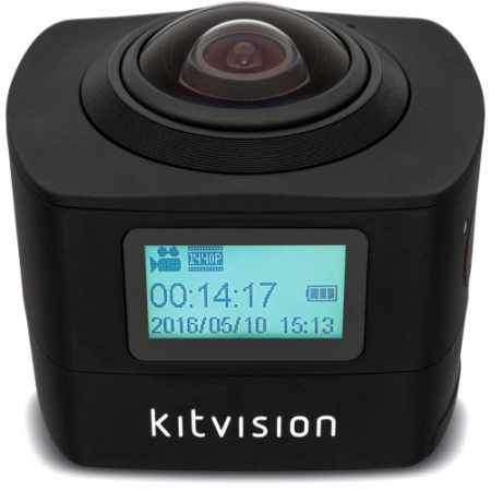 KitVision 360 Immerse – Camera actiune, wireless, Negru