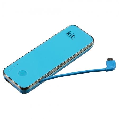 KitVision Fashion PWR4500- acumulator extern 4500 mAh cu cititor MicroSD albastru