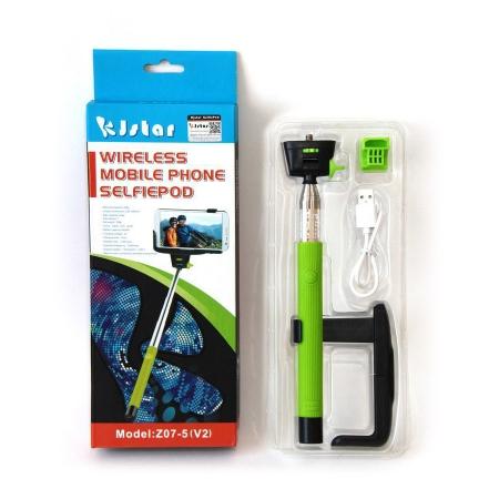 Kjstar Wireless Mobile Selfiepod - selfie stick verde