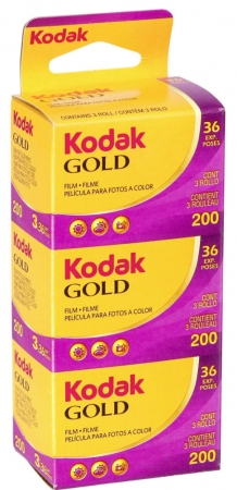 Kodak Gold 200 135/36 set 3 filme