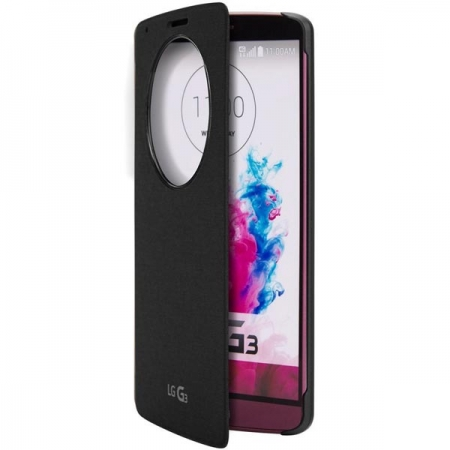 LG CCF-345G - Husa protectie tip Circle Window pentru G3 - negru