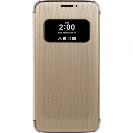 LG - Husa agenda quick view pentru G5 - auriu