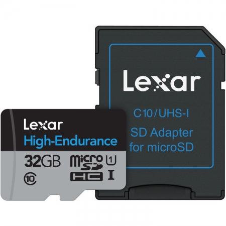 Lexar High Endurance - card microSDHC UHS-I 32GB +Adaptor