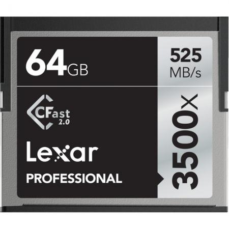 Lexar Professional 3500x CFast 2.0 - card 64GB