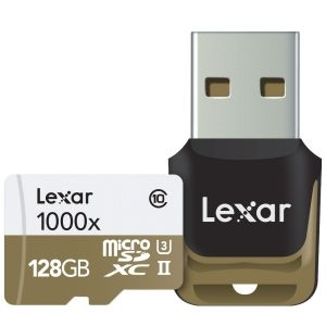Lexar microSDHC 128GB, 1000x, UHS-II, USB 3.0