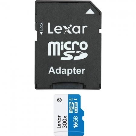 Lexar microSDHC 300x 16GB UHS-1 - card cu adaptor SD