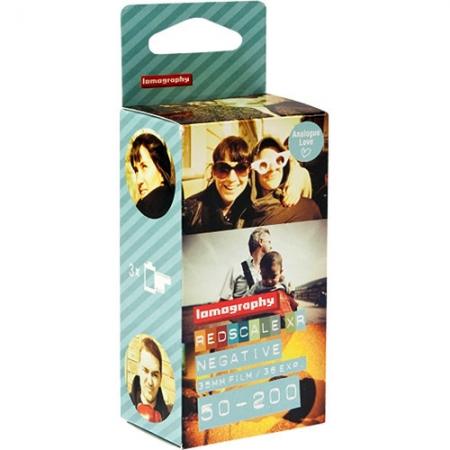 Lomography Redscale XR 50-200 - film negativ color (ISO 50 - 200 / 35 mm) - pachet 3 filme