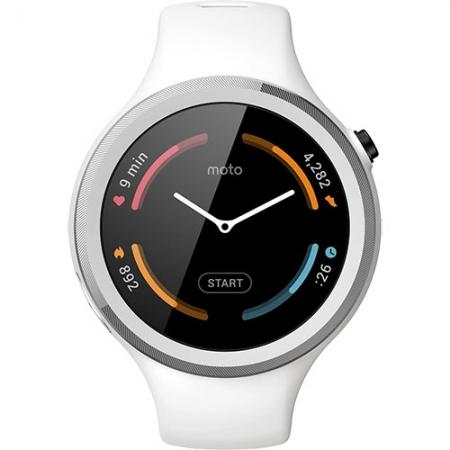 MOTOROLA Smartwatch Moto 360 42MM 2nd Gen Sport Silicon Alb RS125029865