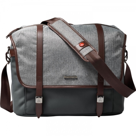 Manfrotto Lifestyle Windsor Messenger - Geanta foto, M, gri