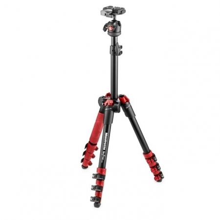 Manfrotto MKBFR1A4R-BH Befree One - kit trepied foto rosu