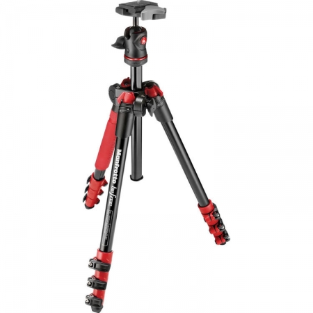 Manfrotto MKBFRA4R-BH Befree - kit trepied foto rosu