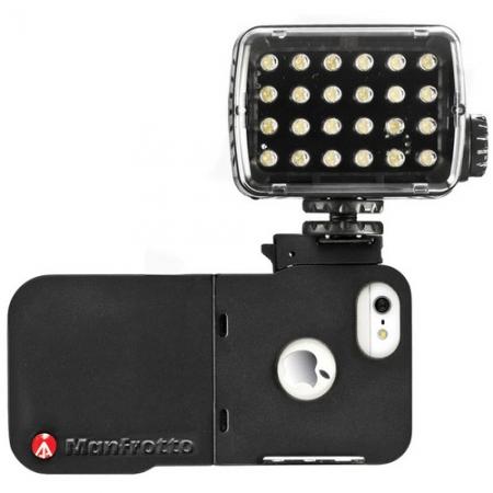 Manfrotto MKLKLYP5 carcasa + lampa 24 Led- uri pentru iPhone 5