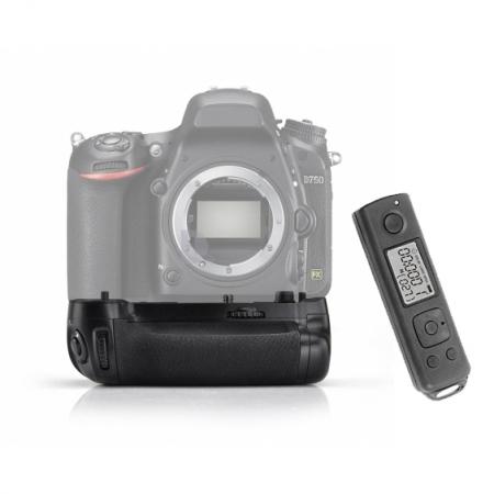 MeiKe - Grip pentru Nikon D750, FSK 2.4G, cu telecomanda