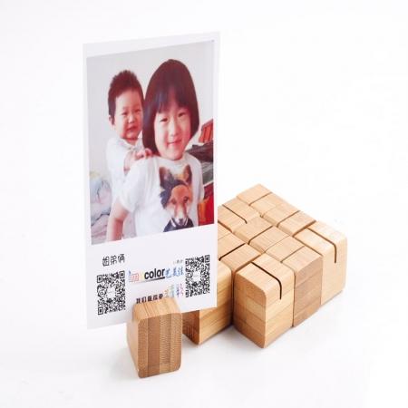 Set Bamboo cuburi suport fotografii - 12buc/set