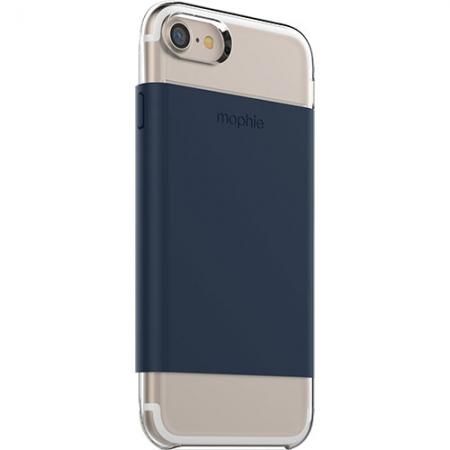Mophie - Husa Capac Spate pentru Apple iPhone 7, Transparenta/ Albastru