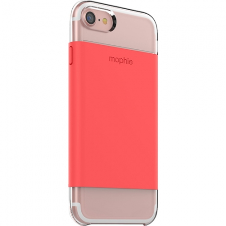 Mophie - Husa Capac Spate pentru Apple iPhone 7, Transparenta/ Portocaliu