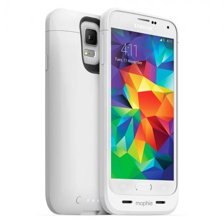 Mophie Samsung Galaxy S5 juice pack - Husa cu acumulator 3000mAh - alb