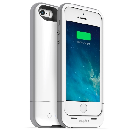 Mophie iPhone 5s / 5 juice pack plus - Husa cu acumulator 2100mAh - alb