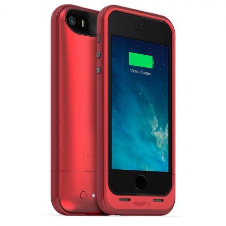 Mophie iPhone 5s / 5 juice pack plus - Husa cu acumulator 2100mAh - rosu