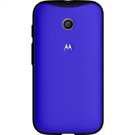 Motorola - Husa Grip Shells pentru Moto E - culoare albastru + negru