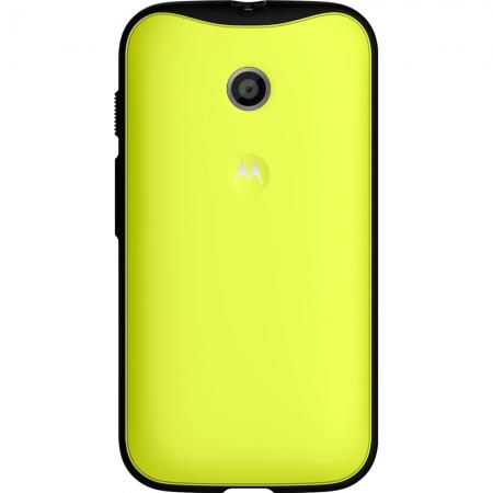 Motorola - Husa Grip Shells pentru Moto E - culoare galben + negru