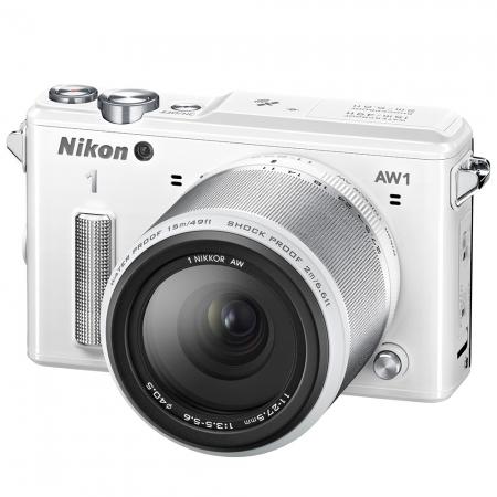 Nikon 1 AW 1 - primul aparat mirrorless rezistent la apă, praf și îngheț, acum în oferta F64 Nikon-1-AW1-alb-kit-11-27-5mm--f-3-5-5-6-29632-1