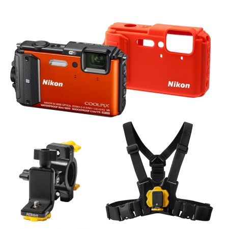 Nikon Coolpix AW130 Outdoor Kit orange