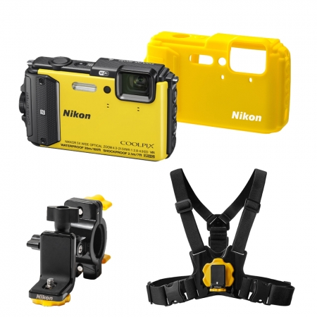 Nikon Coolpix AW130 Outdoor Kit galben
