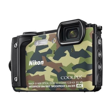 Nikon Coolpix W300 - Aparat foto compact Waterproof, video 4K, Wi-Fi, Camuflaj
