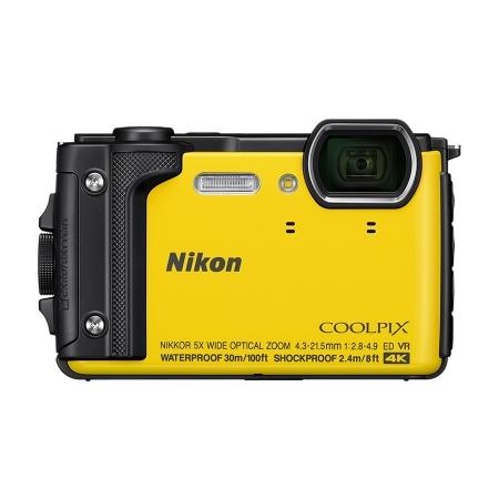 Nikon Coolpix W300 - Aparat foto compact Waterproof, video 4K, Wi-Fi, Galben