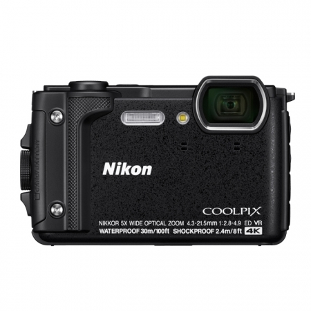 Nikon Coolpix W300 - Aparat foto compact Waterproof, video 4K, Wi-Fi, Negru