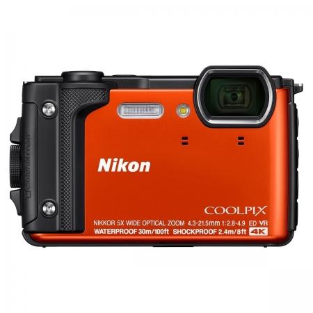 Nikon Coolpix W300 - Aparat foto compact Waterproof, video 4K, Wi-Fi, Portocaliu