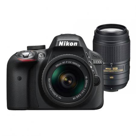 Nikon D3300 Dual Zoom Kit (A-FP 18-55 VR + 55-300 VR)