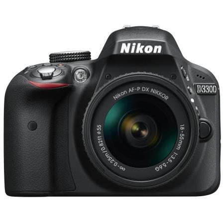 Nikon D3300 Kit AF-P 18-55mm fara VR, Negru