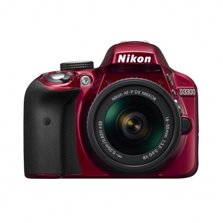 Nikon D3300 kit AF-P 18-55mm VR rosu