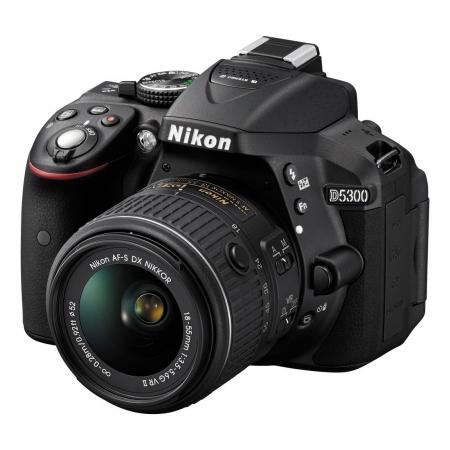 Nikon D5300 kit 18-55mm f/3.5-5.6G VR II negru