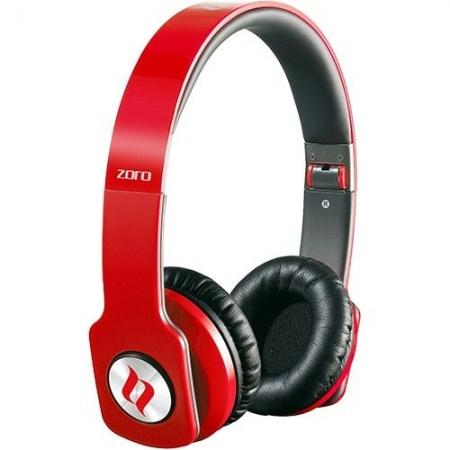 Noontec Zoro HD MF3120(R) - casti over ear cu microfon - rosu