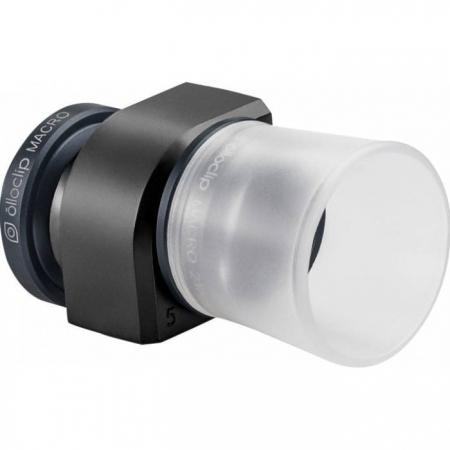 OLLOCLIP 3 in 1 Macro Lens - kit lentile macro iPhone 5 si 5s - negru